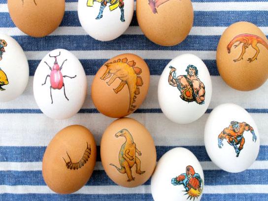 Идеи за великденски яйца - татуирани яйца от Модико бг