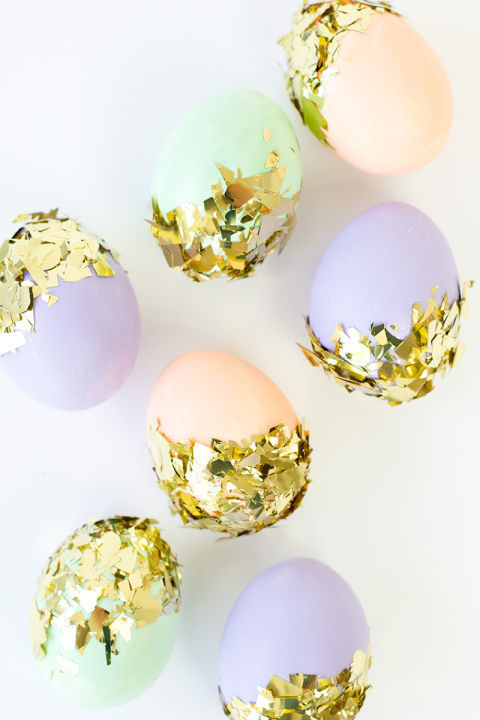 Идеи за великденски яйца - яйца с конфети от Модико бг