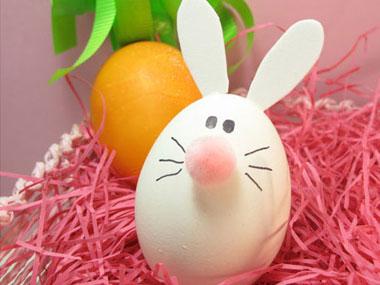 Идеи за великденски яйца - яйца във форма на заек от Модико бг